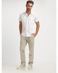 Theory - White Feynold Wealth Shirt for Men - Lyst