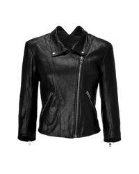 Theyskens' Theory | Black Cropped Biker Jacket | Lyst