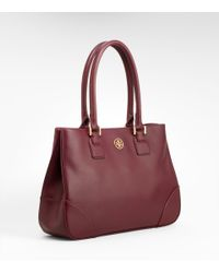 Tory Burch | Brown Robinson Small Tote | Lyst