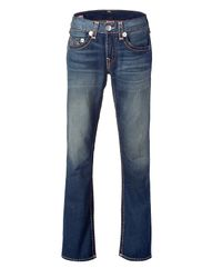 True Religion | Blue Washed Bobby Super T Straight Leg Jeans for Men | Lyst