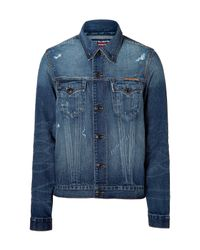 True Religion | Blue Folsom Edison Western Denim Jacket for Men | Lyst