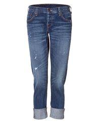 True Religion | Blue The Brianna Phantom Oregon Trail Boyfriend Jeans | Lyst