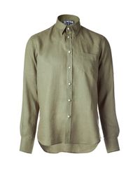 Vilebrequin | Army Green Classic Linen Shirt for Men | Lyst