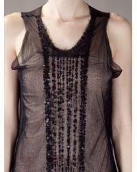 Ann Demeulemeester | Black Sheer Dress | Lyst