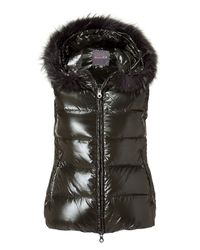 Duvetica - Black Down Jacket With Hood - Blue - Lyst