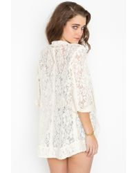 Nasty Gal | Natural Lana Lace Jacket - Cream | Lyst