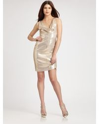 Nicole Miller | Metallic Dress | Lyst