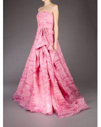 Oscar de la Renta | Pink Strapless Gown | Lyst