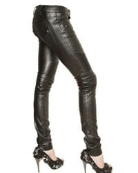 Philipp Plein - Black Eco Leather Biker Trousers - Lyst