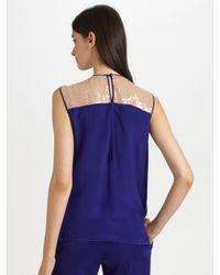 Reed Krakoff | Purple Paillette-embellished Silk Top | Lyst