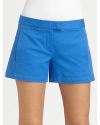Theory | Blue Noalda Shorts | Lyst