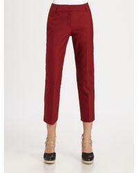 Theory - Red Yanette Capri Pant - Lyst