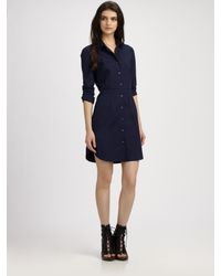 Theory | Blue Vosela Shirt Dress | Lyst