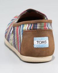 TOMS - Brown Spencer Striped Slip-on - Lyst
