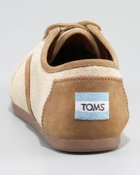 TOMS | Brown Westover Burlap Oxford | Lyst