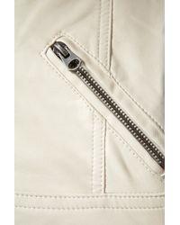TOPSHOP - White Clean Pu Biker Jacket - Lyst