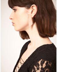 Maria Francesca Pepe - Metallic Triangle Earrings - Lyst