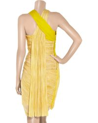 Willow - Yellow Twisted Silk-tulle Dress - Lyst
