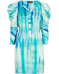 Antik Batik - Blue Naolie Tiedye Silk Dress - Lyst