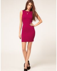 ASOS Collection | Textured Bodycon Dress With Scoop Back | Lyst