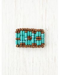 Free People | Blue Beaded Ponytail Cuff | Lyst