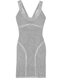 Hervé Léger | Metallic-Finish Bandage Dress | Lyst