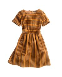 Madewell | Brown Stucco Stripe Songbird Dress | Lyst