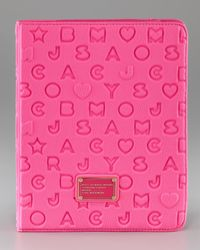 Marc By Marc Jacobs | Pink Star-embossed Neoprene Ipad Case | Lyst