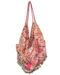Simone Camille - Pink Moon Bag Patchwork Canvas Tote - Lyst