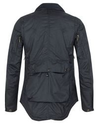 Barbour | Black Short Waxed Motorbike Jacket for Men | Lyst