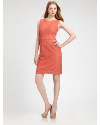BCBGMAXAZRIA - Pink Lace Alice Dress - Lyst