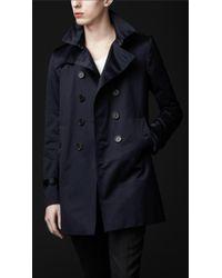 Burberry Prorsum | Blue Cotton Trench Coat for Men | Lyst