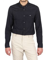 Burberry Prorsum - Blue Slim Fit Poplin Shirt for Men - Lyst