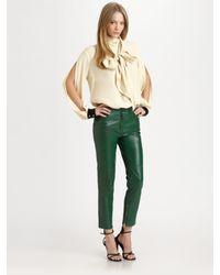 By Malene Birger | Green Alisa Leather Pants | Lyst