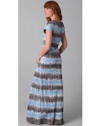 C&C California - Blue Tie Dye Maxi Dress - Lyst