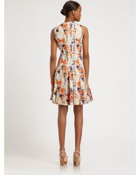 Lavia18 - Multicolor Abstract Floral Print Dress - Lyst