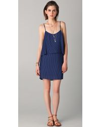 Parker - Blue Pleated Dress - Lyst
