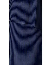 Parker - Blue Pleated Dress - Lyst