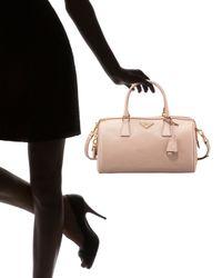 Prada - Pink Saffiano Lux Top-handle Bag - Lyst