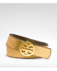 Tory Burch | Metallic Reversible Logo Belt | Lyst