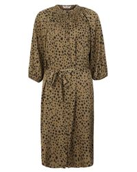Tucker | Brown Smocked Animal Print Dress | Lyst