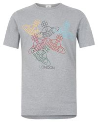 Vivienne Westwood - Gray Grey Olympic Orb T-shirt for Men - Lyst