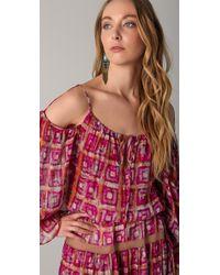 BCBGMAXAZRIA   Pink Dress The Valentina Maxi Dress   Lyst
