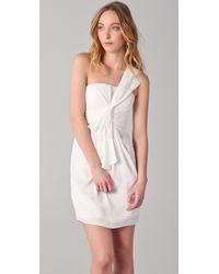 BCBGMAXAZRIA - White Palais One Shoulder Dress - Lyst