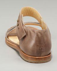 Brunello Cucinelli | Metallic Loafer Flat Sandal | Lyst