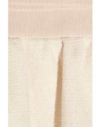 Carven - Natural Cotton-Canvas And Grosgrain Skirt - Lyst