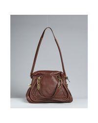 Chloé - Brown Ebony Calfskin Paraty Medium Top Handle Bag - Lyst