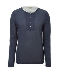 Closed | Blue Double Layer Top for Men | Lyst