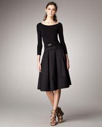 Donna Karan | Black V-back Jersey Bodice Dress | Lyst
