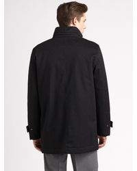 Ferragamo - Black Wool/cashmere Car Coat for Men - Lyst